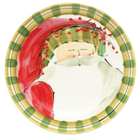 Vietri  Old St. Nick Dinner Plate - Striped Hat $58.00