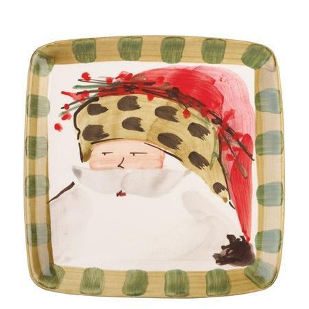 Vietri  Old St. Nick Square Salad Plate - Animal Hat $48.00