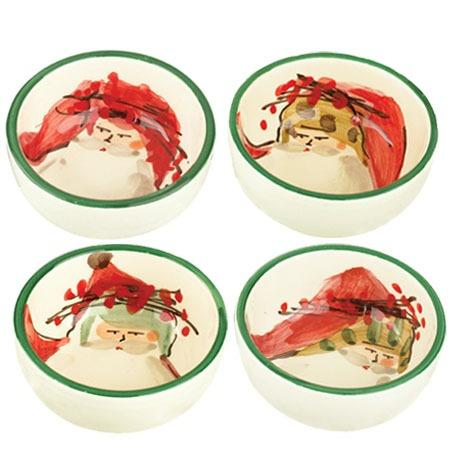 VIETRI  Old St. Nick Assorted Condiment Bowls - Set of 4 $120.00