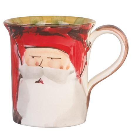 Vietri  Old St. Nick Mug - Red Hat $44.00