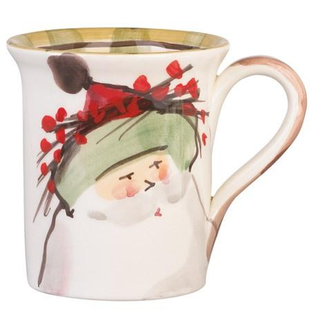 Vietri  Old St. Nick Mug - Green Hat $44.00