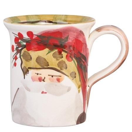 Vietri  Old St. Nick Mug - Animal Hat $44.00