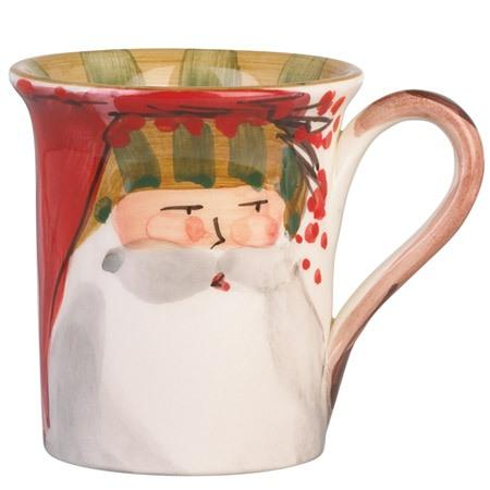 Vietri  Old St. Nick Mug - Striped Hat $44.00