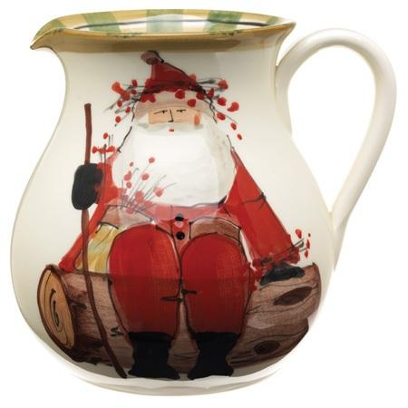 VIETRI  Old St. Nick Round Body Pitcher $132.00