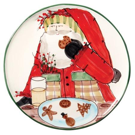 VIETRI  Old St. Nick Cookie Platter $132.00