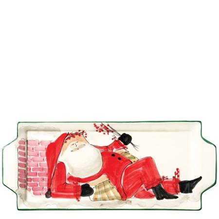 Vietri  Old St. Nick Handled Rectangular Platter - Santa $92.00