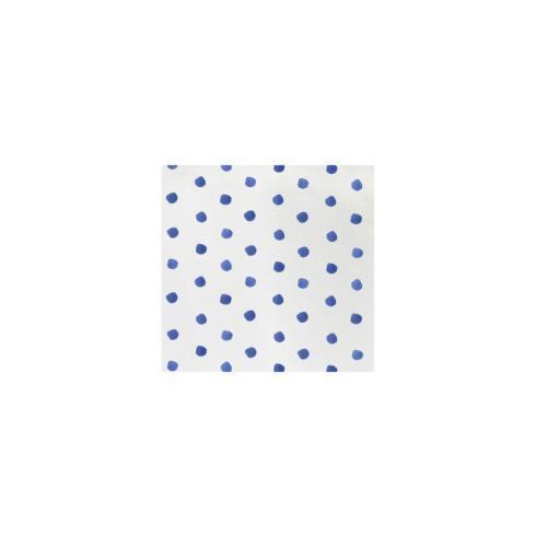$8.00 Blue Dot Cocktail Napkins (Pack of 20)
