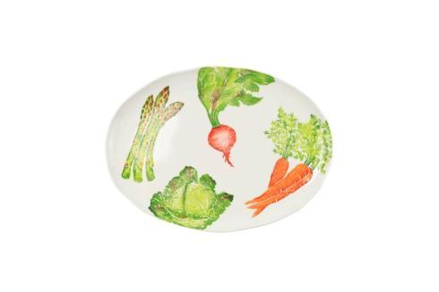 Spring Vegetables Large Oval Platter