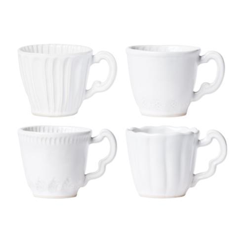 VIETRI Incanto Stone White Assorted Mugs - Set of 4 $200.00