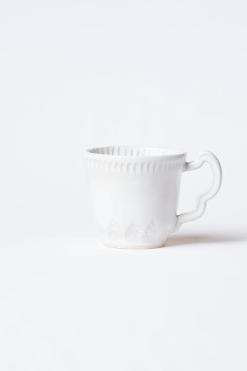 Vietri Incanto Stone White White Leaf Mug $46.00