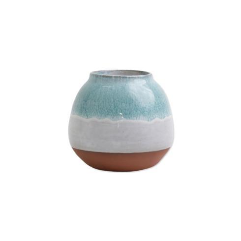 Aqua Round Vase image