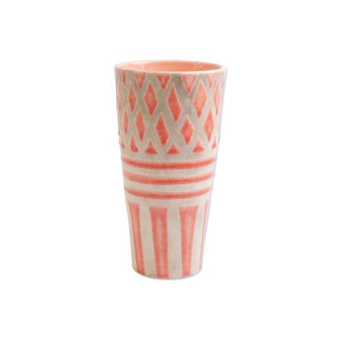 Viva by Vietri Viva Garden Geo Coral Tall Vase $40.00