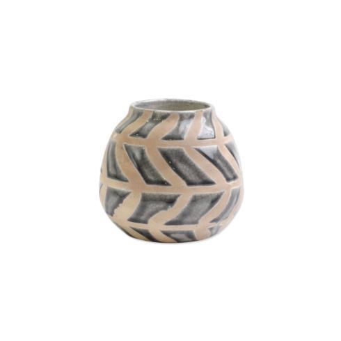 $28.00 Gray Round Vase
