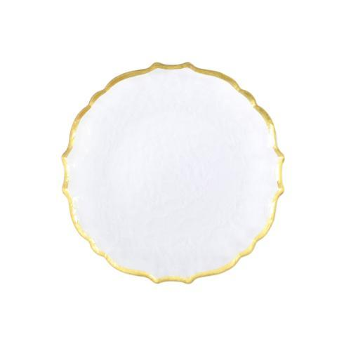 $24.00 Baroque Glass Clear Salad Plate