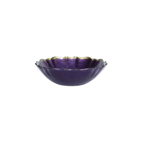 Baroque Glass Purple Small Bowl