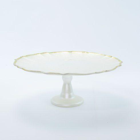 Viva by Vietri  Viva Baroque Glass White Cake Stand $79.00