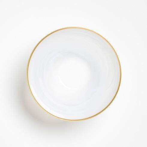 Vietri Alabaster Glass White Medium Deep Serving Bowl $68.00