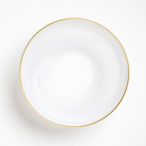 Vietri Alabaster Glass White Large Deep Serving Bowl $84.00