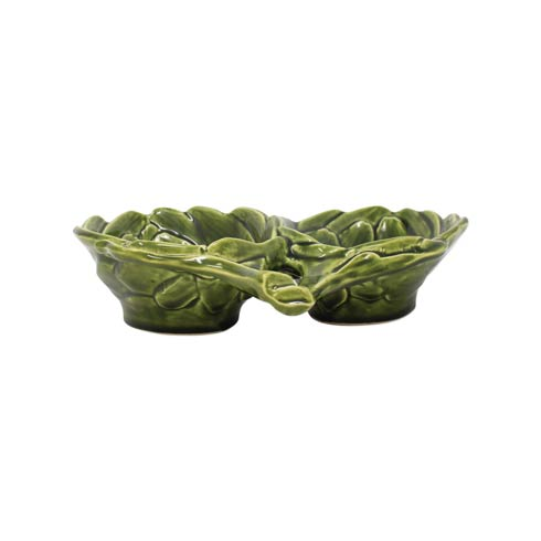 $70.00 Green Figural Two-Part Server