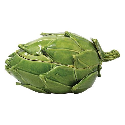 Green Figural Tureen