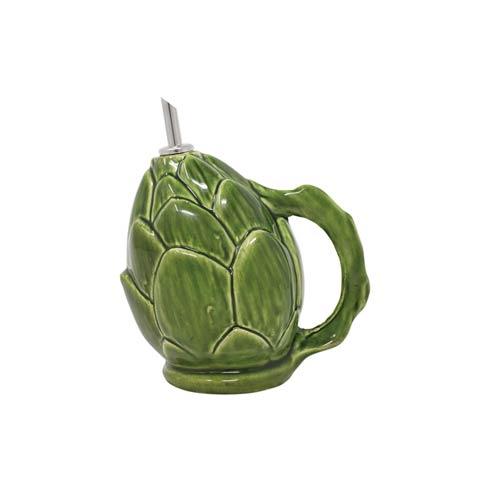 VIETRI  Artichokes Green Figural Olive Oil Cruet $60.00