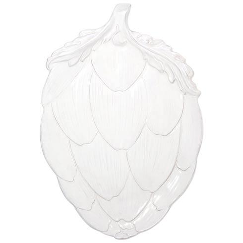 VIETRI  Artichokes White Figural Platter $150.00