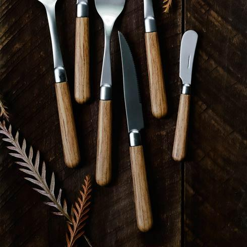 $91.00 Oak Steak Knives - Set of 4
