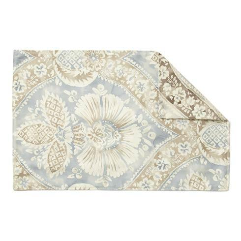 Vietri  Accent Napkins Gray/Sky Painted Damask Placemat $7.00