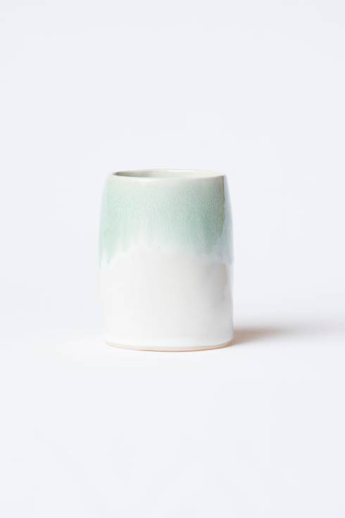 Vietri  Bath Essentials Aqua Round Vase $78.00