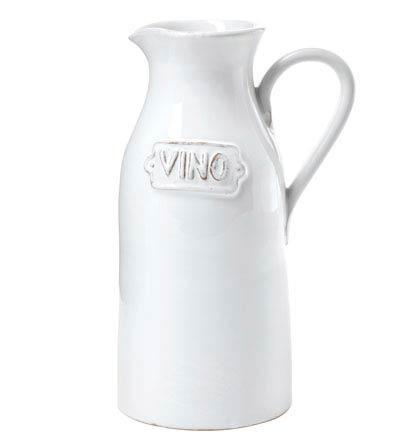 Vietri Bianco White Vino Pitcher $82.00