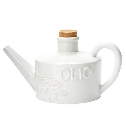 Vietri Bianco White Handled Olive Oil Can $55.00