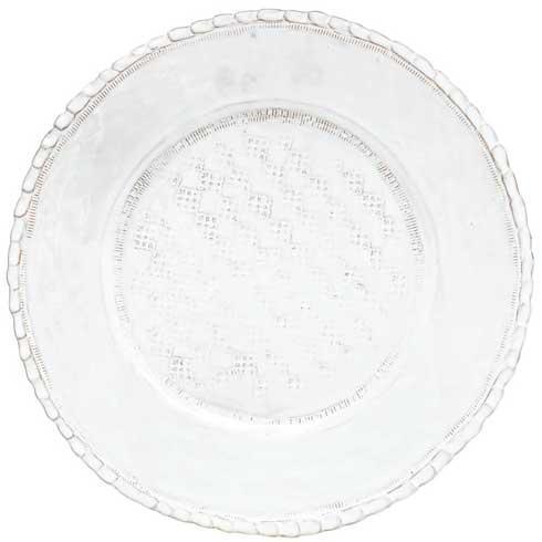 Vietri Bellezza White White Service Plate/Chargr $66.00