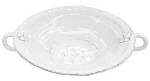 Vietri Bellezza White White Lg Handl Serv Bowl $158.00