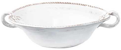 Vietri Bellezza White Wht Med Hndl Serv Bowl $88.00