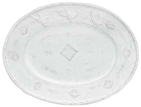 Vietri Bellezza White White Lg Oval Platter $117.00