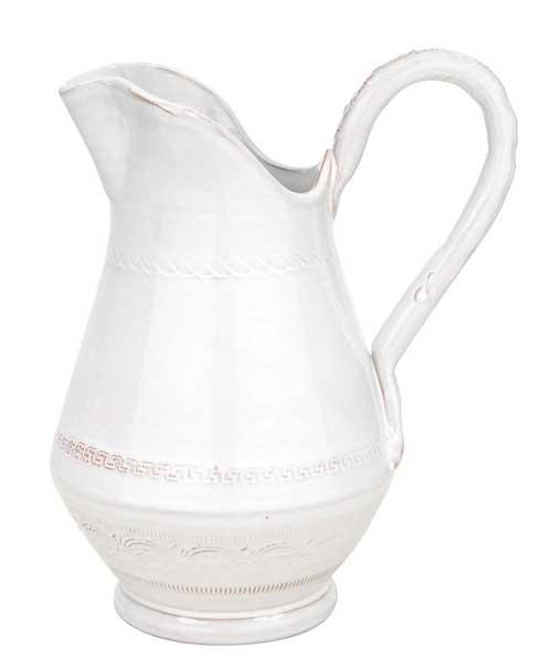 Vietri Bellezza White White Small Pitcher $88.00