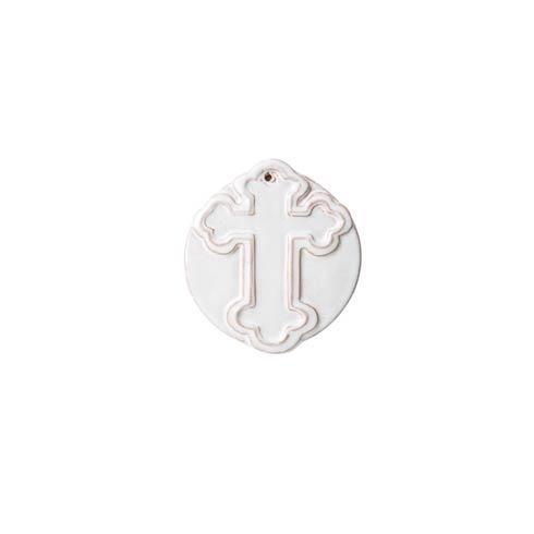 Vietri Bellezza White Decorative Cross Ornament $21.00