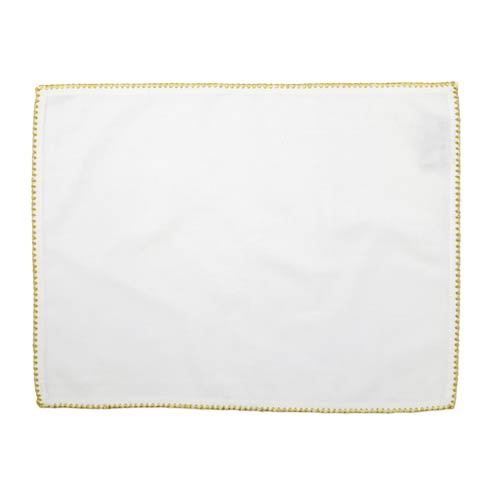 $40.00 Placemats with Gold Stitching - Set of 4
