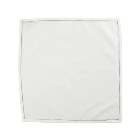 $40.00 Napkins with Light Gray Stitching - Set of 4