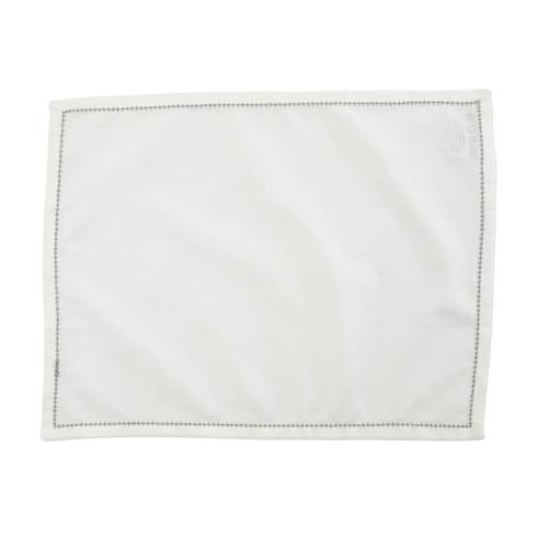 VIETRI Cotone Linens Ivory Placemats with Light Gray Stitching - Set of 4 $40.00