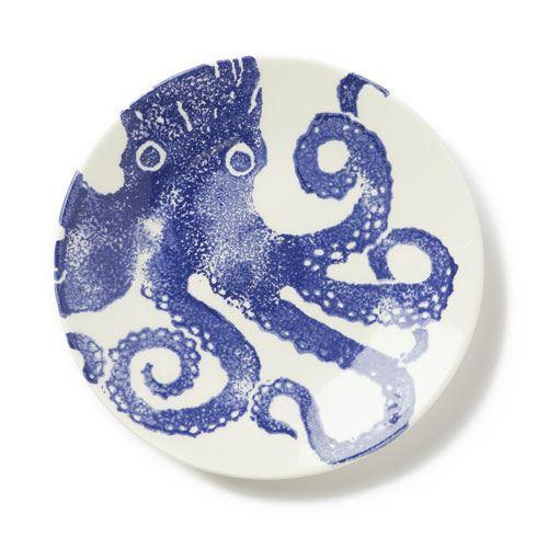 Vietri Costiera Blue Octopus Salad Plate $36.00