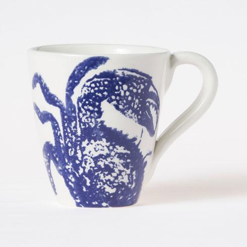 Vietri Costiera Blue Crab Mug $38.00