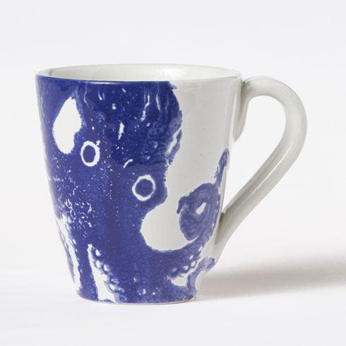 Vietri Costiera Blue Octopus Mug $38.00