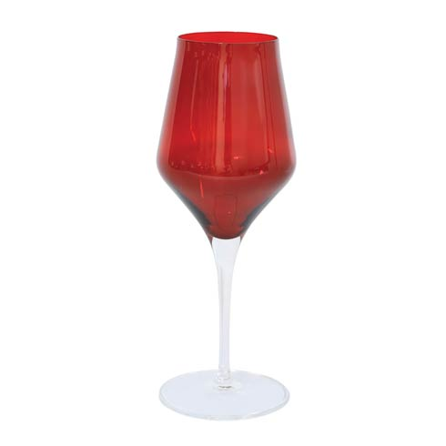 $25.00 Red Water Glass
