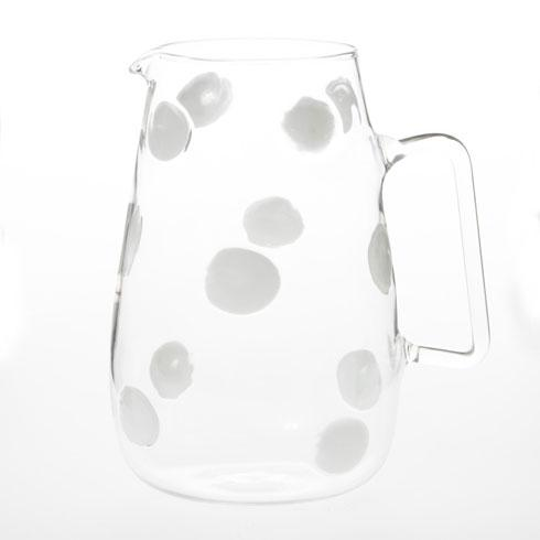 VIETRI  Drop Glass White Pitcher $140.00