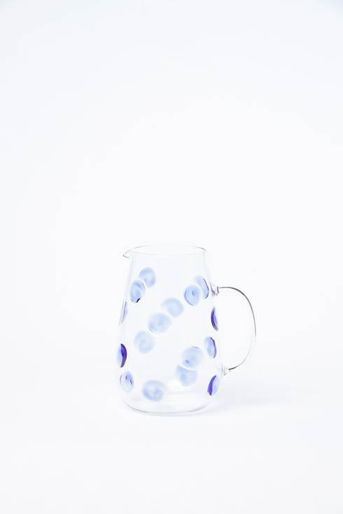 Vietri  Drop Glass Pitcher - Blue $140.00