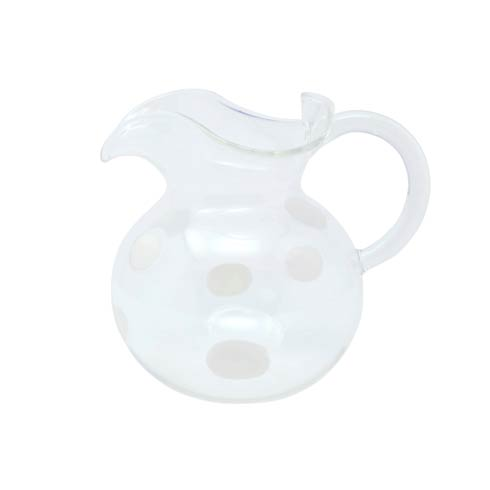 VIETRI  Drop Glass White Three-Spout Pitcher $145.00