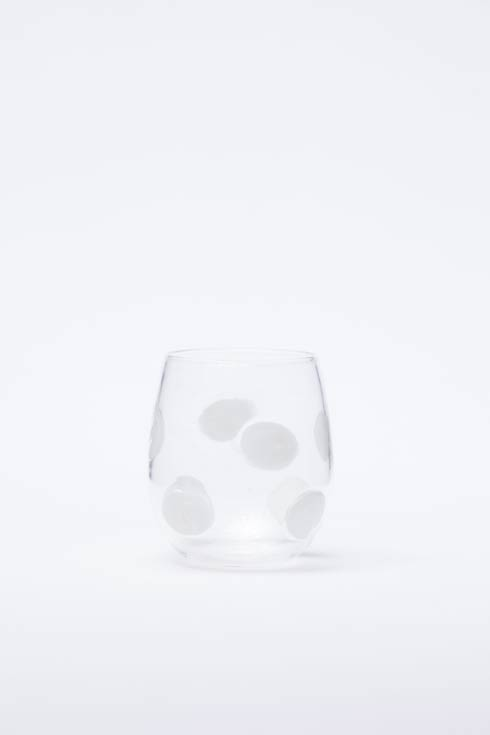 VIETRI  Drop Glass White Stemless Wine Glass $51.00