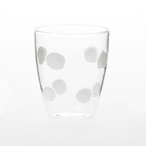 VIETRI  Drop Glass White Short Tumbler $45.00