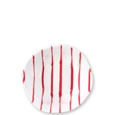 Vietri  Stripe Red Berry Bowl $36.00
